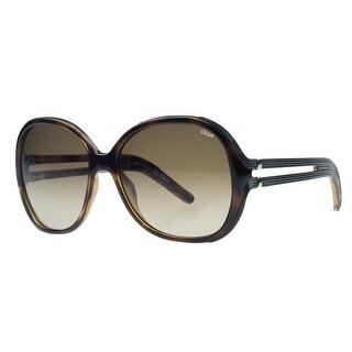 Chloe CE651/S 214 Light Havana Square Sunglasses