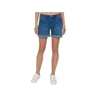 Tommy Hilfiger Womens Shorts Denim Cuffed