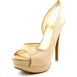 Jessica Simpson Sabella Open Toe Synthetic Platform Heel