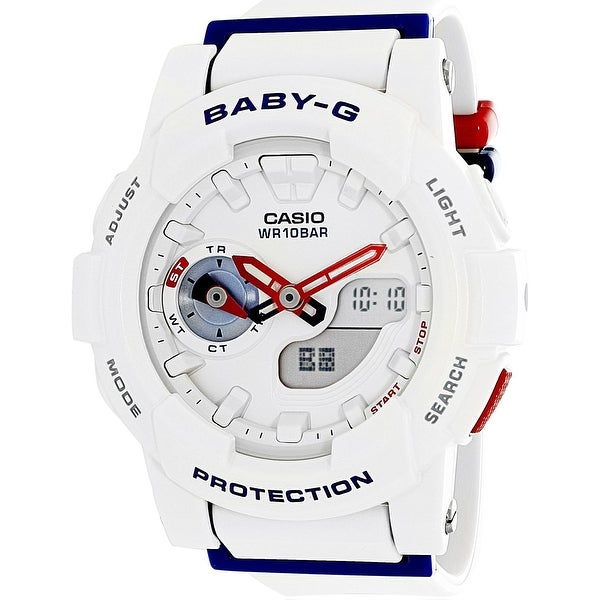 3b051afdb4b46 Shop Casio Women s Baby-G White Rubber Quartz Sport Watch - Free Shipping  Today - Overstock - 18617113