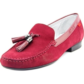 Marc Joseph Wall St. Men Moc Toe Leather Red Loafer