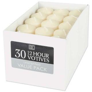 "Unscented 12 Hour Votive Candles 1.3""X1.8"" 30/Pkg-Ivory"