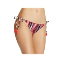 7c1d152f1e Heidi Klum Womens Catalina Kisses Printed Fringe Swim Bottom Separates
