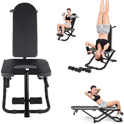 Heavy Duty Inversion Table, Multi-Functional Folding Yoga Inversion Bench Yoga Fitness Workout Gym 330lbs Capacity