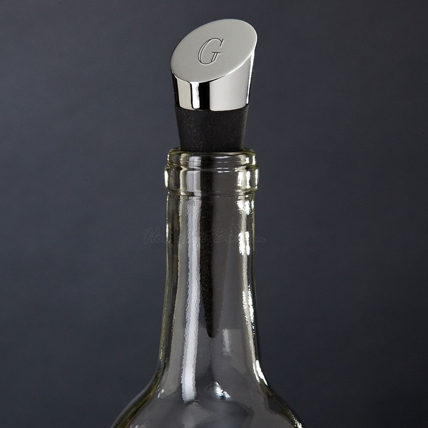 Highborn Personalized Wine Bottle Stopper, Chrome. Opens flyout.