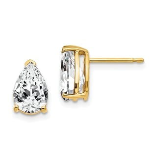 Link to 14K Yellow Gold 9x6mm Pear Cubic Zirconia Earrings by Versil Similar Items in Earrings
