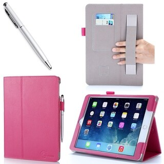 iPad Air 2 Case, i-Blason, Slim Leather Book Stand Cover Case for Apple Ipad Air 2- Magenta