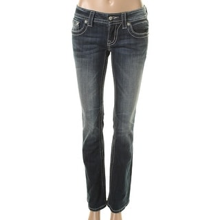 Miss Me Womens Distressed Embellished Bootcut Jeans - 32