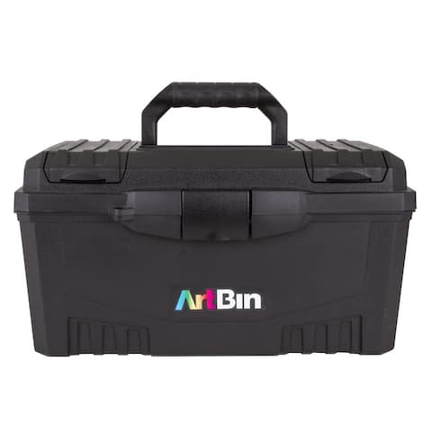 Artbin Twin Top Storage Box with Lift Out Tray, Compartments, and Top Carry Handle - Multi-Color