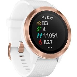 Garmin Vívoactive 3 GPS Smartwatch - White w/Rose Gold Hardware