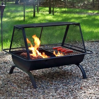 Sunnydaze 36 Inch Northland Grill Fire Pit with Protective Cover