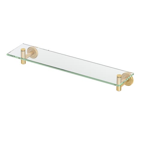 "Gatco 4236 Latitude II 20-13/100"" Glass Shelf - Brushed Brass"