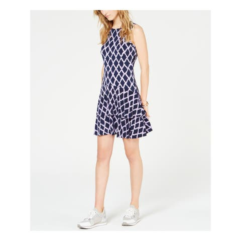 MICHAEL KORS Purple Sleeveless Short Sheath Dress Size XL