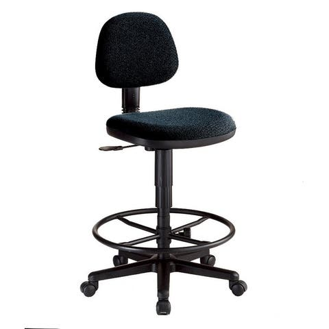 Alvin ch277-40dh black comfort economy drafting height task chair