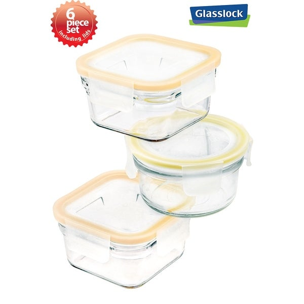 Glasslock 6-Piece Rimless Food Storage Container Set