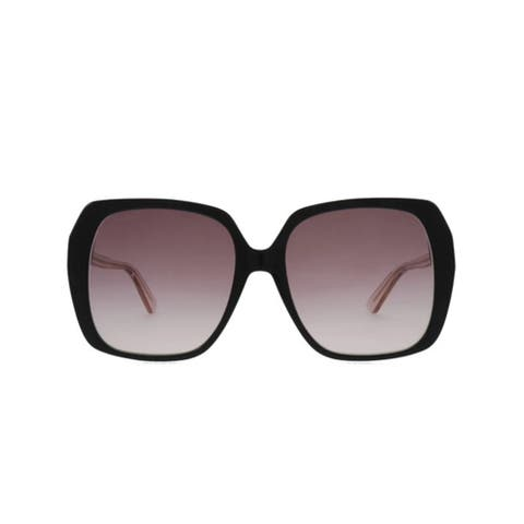 GUCCI GG Oversized Sunglasses Black Pink - One size
