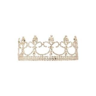 Women Silver Crystals Crown