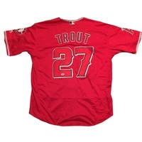 Mike Trout Autographed Angels Signed Baseball Jersey PSA DNA COA