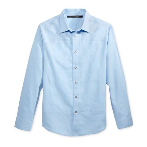 Sean John Blue Chambray Mens Size 2XL Open Weave Button Down Shirt