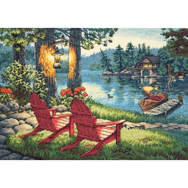 "Gold Collection Twilight's Calm Counted Cross Stitch Kit-16""X11"" 14 Count"