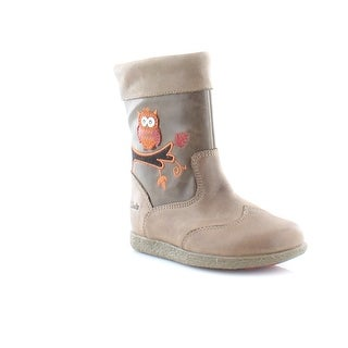 Clarks Jenna Owl FST Toddler Girls Boots Mushroom (3 options available)