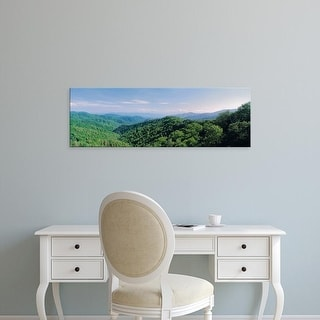 Easy Art Prints Panoramic Images's 'Tennessee, Great Smoky Mountains National Park, Newfound Gap Road' Canvas Art