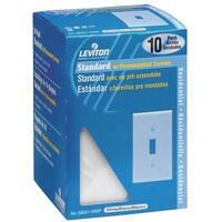 Leviton 10Pk Wh 1-Tog Plate M24-88001-WMP Unit: BOX
