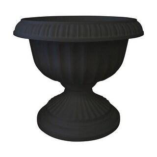 """Bloem GU18-00 Grecian Flower Pot, Plastic, Black, 20"""" x 18"""" x 18"""""""