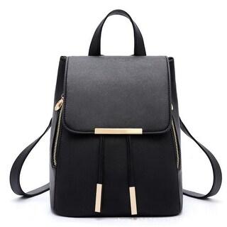 Fashion School Leather Backpack Shoulder Bag Mini Backpack for Women