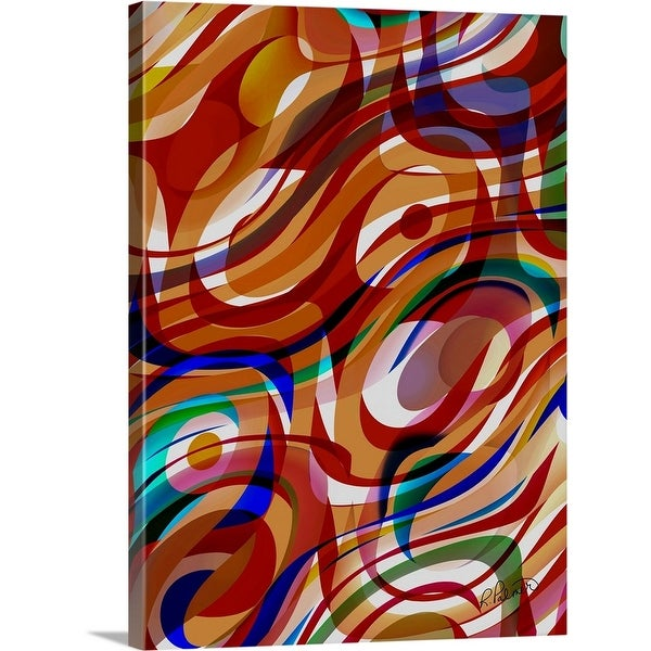 """""""Swirling Pools Of Color"""" Canvas Wall Art"""