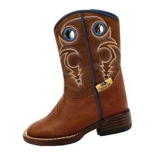 Double Barrel Western Boots Boys Kids Dylan Infant Brown 4416232