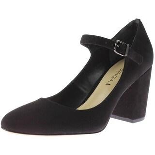 Via Spiga Womens Suede Mary Jane Block Heels