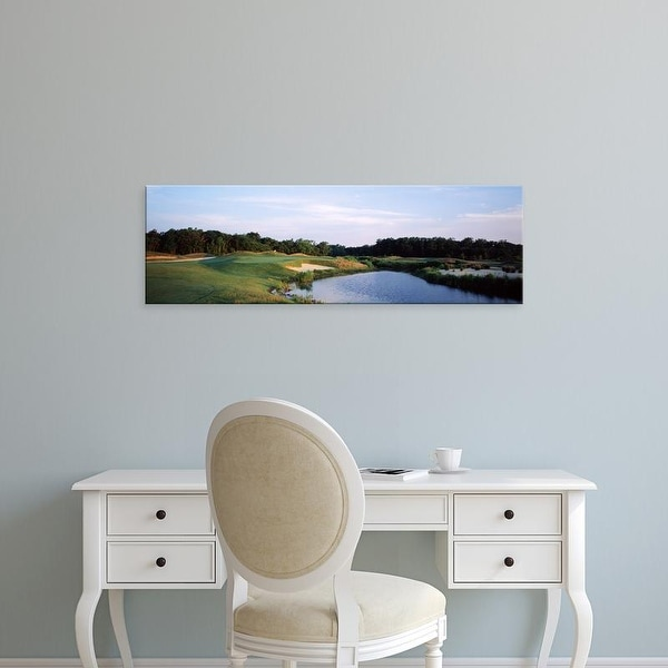 Easy Art Prints Panoramic Image 'Cape May National Golf Course, Cape May Golf Club, Erma, New Jersey' Canvas Art