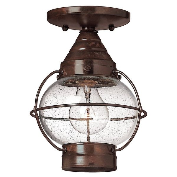 Hinkley Lighting H2203 1-Light Outdoor Flush Mount Ceiling Fixture from the Cape Cod Collection - sienna bronze - n/a