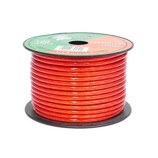 10 Gauge Clear Red Power Wire 100 ft. OFC