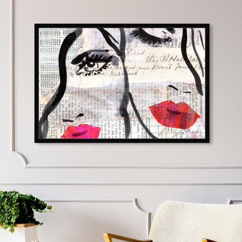 Oliver Gal 'Sister' People and Portraits Framed Wall Art Prints Portraits - Black, Pink