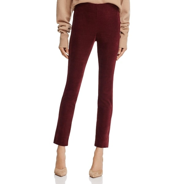 Theory Womens Navalene Ankle Pants Velvet High-Waist