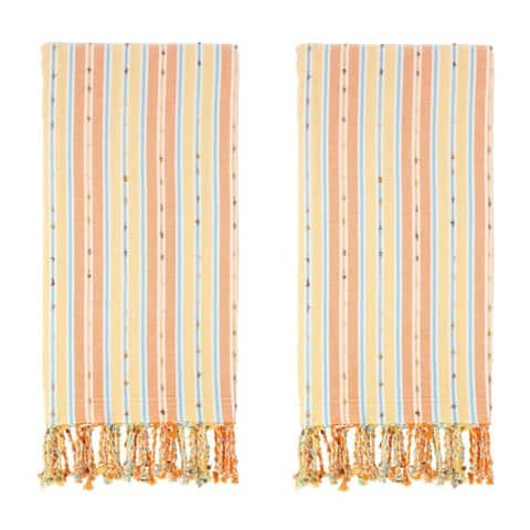 Set of 2 Turkish Towels - 100 % Turkish Cotton - Kasol - Citizens of the Beach Collection