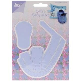 "Joy! Crafts Cut & Emboss Die-Baby Shoe Boy, 2.5"""