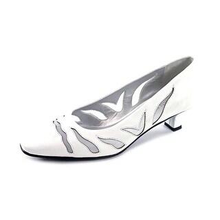 Vaneli Racilia Square Toe Leather Heels