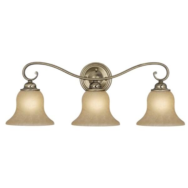 """Vaxcel Lighting VL35473 Monrovia 3-Light Bathroom Vanity Light - 26"""" Wide"""