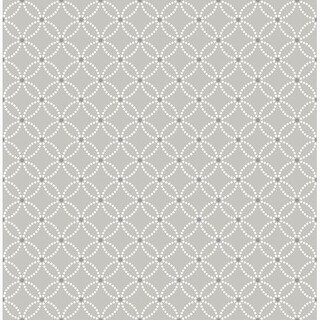 Brewster 2625-21843 Kinetic Grey Geometric Floral Wallpaper