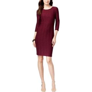 Calvin Klein Womens Wear to Work Dress Pintuck 3/4 Sleeves