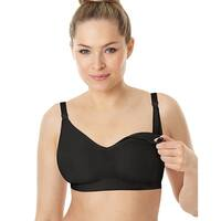 Playtex Nursing Seamless Wirefree Bra with X-Temp®; Cooling Technology - Size - XL - Color - Black