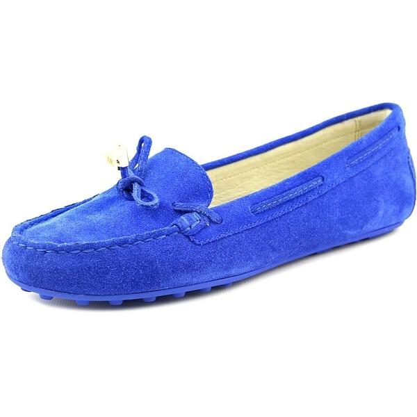 Michael Michael Kors Daisy Moc Women Moc Toe Suede Blue Loafer