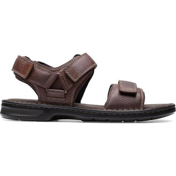 b623ae5deb8 Shop Clarks Men s Malone Shore Walking Sandal Dark Brown Tumbled Full Grain  Leather - Free Shipping Today - Overstock - 27346905