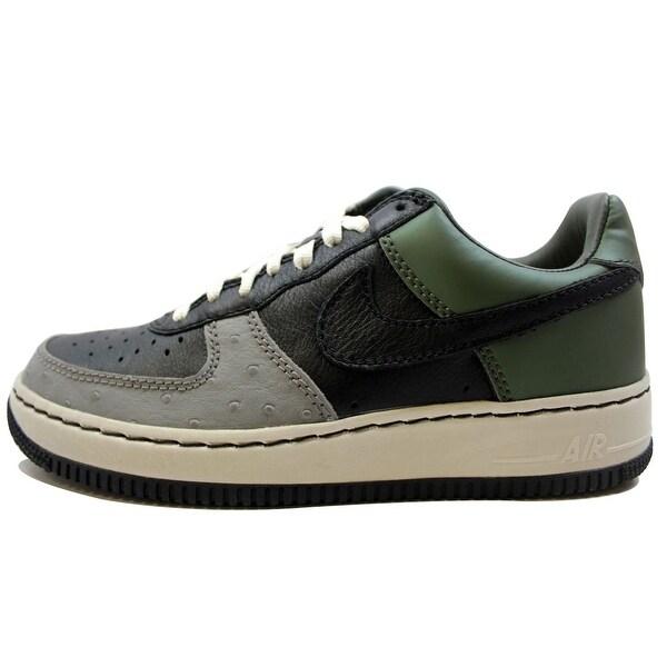 Nike Men's Air Force I 1 Low Insideout Black/Black-Army Olive Un-Mita 312486-001