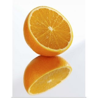 """Reflection of half orange"" Poster Print"