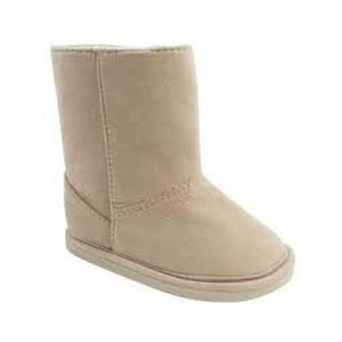 Baby Deer Little Boys Tan Suede Cloth Stylish First Steps Boots