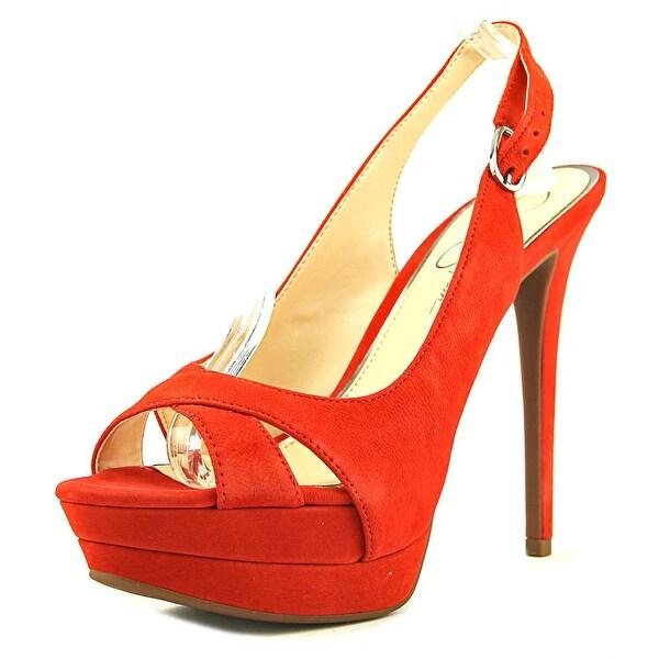 8d21fdf1a34 Shop Jessica Simpson Willey Women Open Toe Leather Red Platform Heel ...
